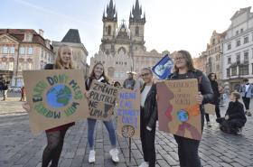 Klimatická demonstrace v Praze