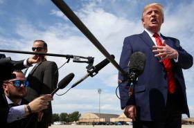 Donald Trump přiletěl ve čtvrtek do Marylandu