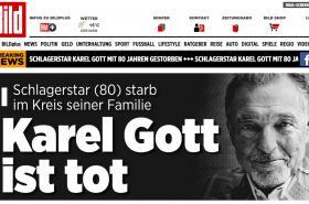 Německý web Bild o úmrtí Karla Gotta