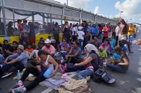 Migranti na americko-mexické hranici