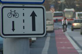 Pruh pro cyklisty v Brně