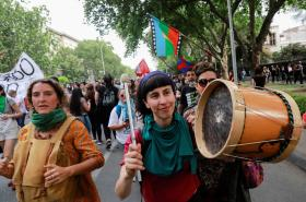 Pochod proti nerovnosti v Chile
