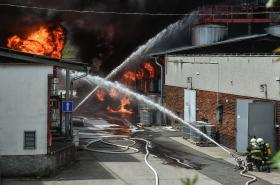 Požár liberecké chemičky Severochema