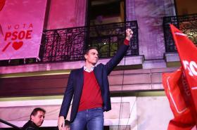 Úřadující premiér a lídr socialistů Pedro Sánchez
