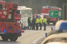 Nehoda autobusu nedaleko Velvar