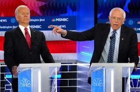 Joe Biden a Bernie Sanders