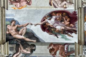 Stvoření Adama podle Michelangela