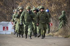 Jednotka proruských separatistů na východě Ukrajiny