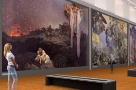 Vizualizace Slovanské epopeje v Moravském Krumlově