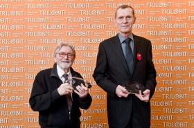 Ladislav Mrkvička a Jiří Schitzer (zleva) získali Hlavní cenu Trilobit 2020