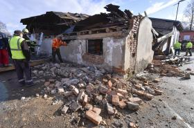 Následky vichřice v obci Rohozná na Jihlavsku