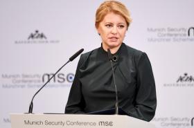 Slovenská prezidentka Zuzana Čaputová na mnichovské bezpečnostní konferenci