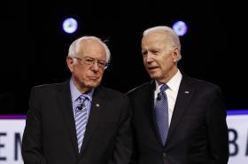 Bernie Sanders a Joe Biden