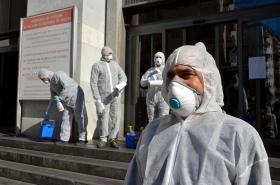 Dezinfekce justičního paláce v Miláně