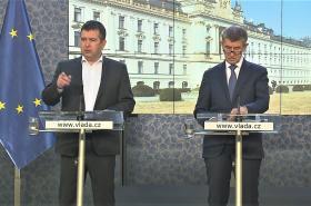 Tisková konference po zasedání vlády