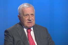 Bývalý prezident Václav Klaus v Interview ČT24