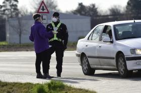 Policejní kontroly u Litovle na Olomoucku