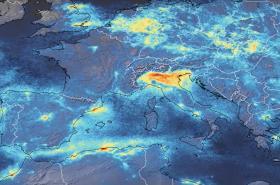 Znečištění nad Itálií