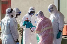 Dekontaminace domova pro seniory v Ostravě, kde se objevila nákaza koronavirem
