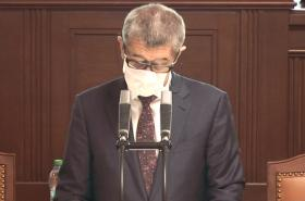 Andrej Babiš ve sněmovně