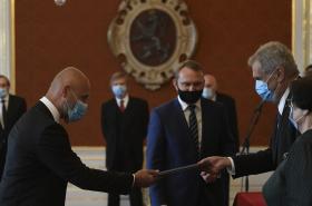Petr Angyalossy při jmenování předsedou Nejvyššího soudu