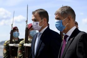 Slovenský premiér Igor Matovič na návštěvě Prahy
