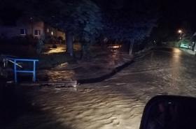 Noční záplavy na Olomoucku