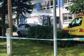 Zásahové složky ve škole ve Vrútkách