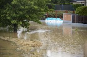 Záplava v Dolních Ředicích