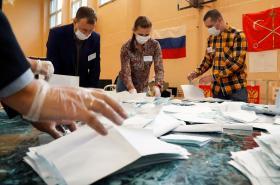 Sčítání hlasů v ruském plebiscitu