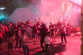 Srbské protesty proti koronavirovým opatřením