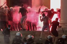 Demonstrace v Bělehradě