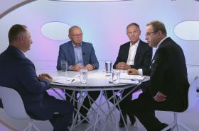 Tomáš Salomon, Ivan Pilný a Jan Švejnar v Otázkách Václava Moravce
