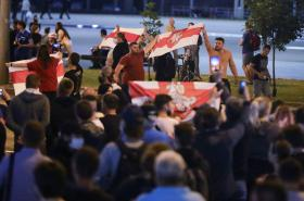 Povolební protest v Minsku
