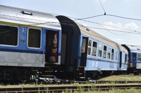 Vykolejené vagony vlaku v Tišnově