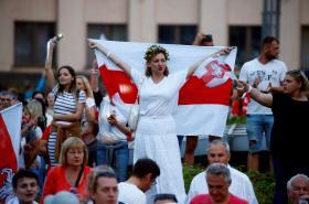 Demonstrace v Minsku 18. srpna 2020