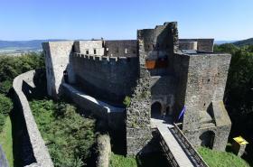 Opravený renesanční palác na hradě Helfštýn