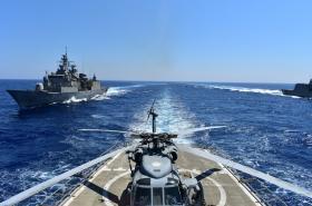 Turecké manévry ve Středozemním moři