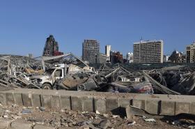 Pohled na libanonský Bejrút po srpnové explozi