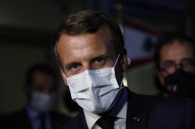Macron v Bejrútu