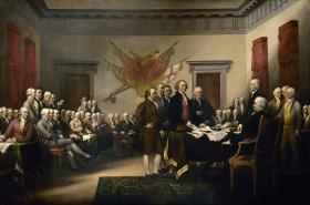 Podpis Deklarace nezávislosti z roku 1776