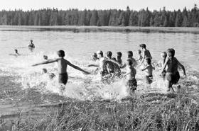 Skautský tábor v létě 1949