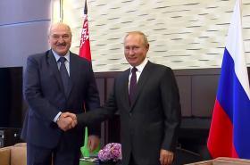 Alexandr Lukašenko a Vladimir Putin
