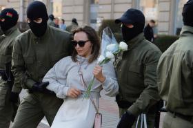 Demonstrace v Bělorusku proti Alexandru Lukašenkovi 26. září 2020