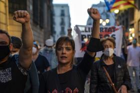 Separatisté protestují v Barceloně