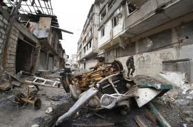 Následky bojů v Náhorním Karabachu