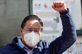 Prezidentský kandidát bolivijských socialistů Luis Arce