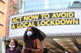 Manchester v době sílící pandemie