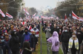 Nedělní protesty v Minsku