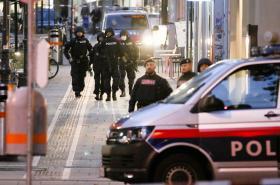 Policie v centru Vídně